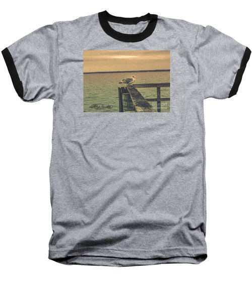 Baseball T-Shirt featuring the photograph The Loner by Melissa Messick