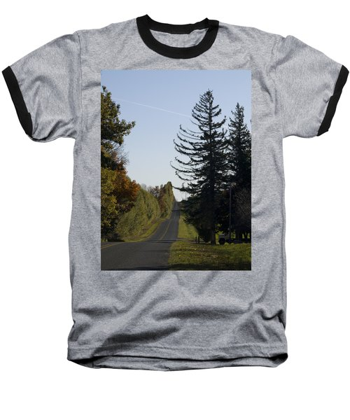 Baseball T-Shirt featuring the photograph The Long Road by Tara Lynn