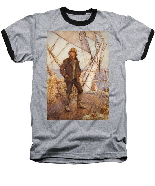 The Lookout Man  Baseball T-Shirt by Henry Scott Tuke