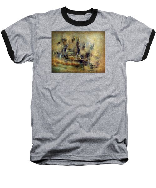 Baseball T-Shirt featuring the painting The Lost City By Sherriofpalmsprings by Sherri  Of Palm Springs