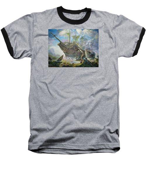 The Lost Ship Baseball T-Shirt