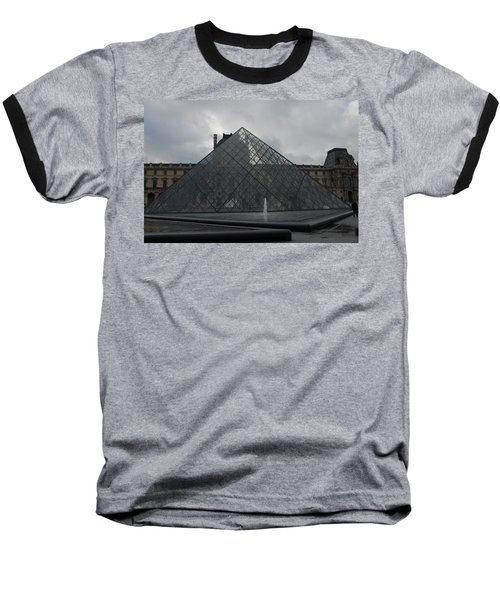 Baseball T-Shirt featuring the photograph The Louvre And I.m. Pei by Christopher Kirby