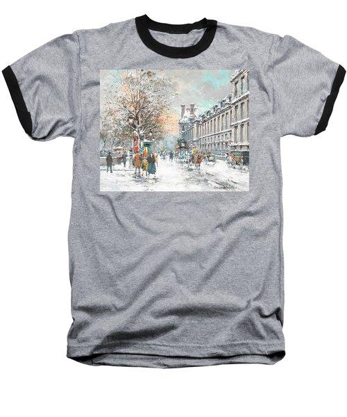 The Louvre-winter Baseball T-Shirt