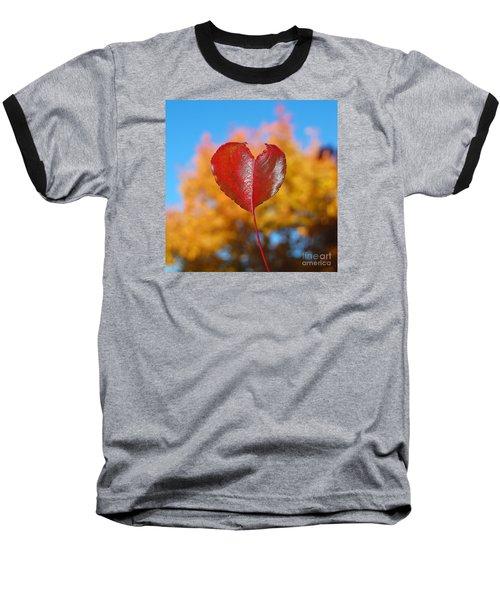 The Love Of Fall Baseball T-Shirt by Debra Thompson