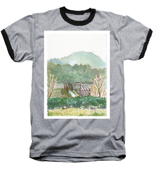 Baseball T-Shirt featuring the painting The Luberon Valley by Tilly Strauss