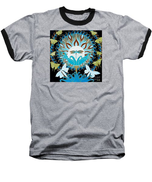 The Luna Moth Journey Of Faith And Love Baseball T-Shirt