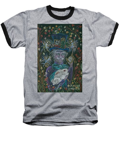 The Maddening Hatter Baseball T-Shirt by Dawn Fairies