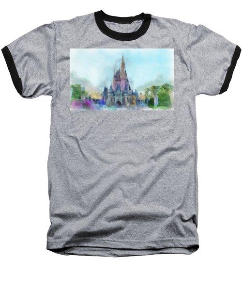The Magic Kingdom Castle Wdw 05 Photo Art Baseball T-Shirt