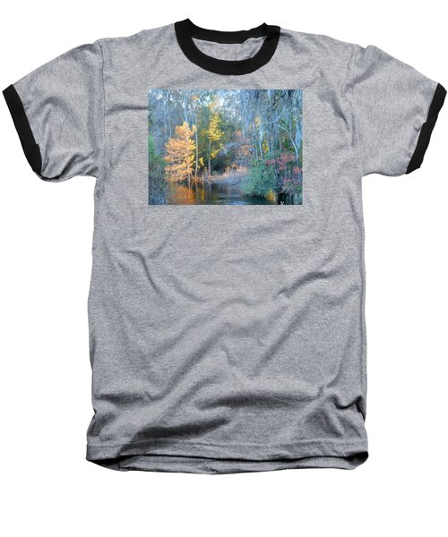 Baseball T-Shirt featuring the photograph The Magic Of Autumn Sunshine by Kay Gilley