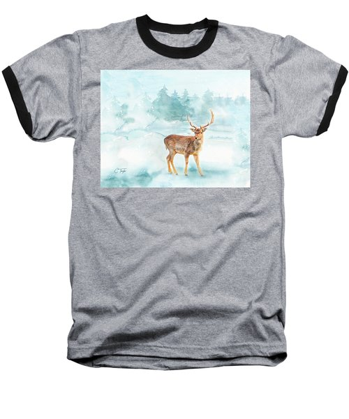 Baseball T-Shirt featuring the painting The Magic Of Winter  by Colleen Taylor