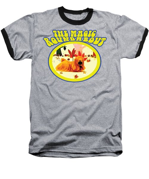 The Magic Roundabout Retro Design Hippy Design 60s And 70s Baseball T-Shirt