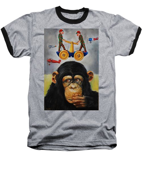 The Magnificent Flying Strauss Baseball T-Shirt by Jean Cormier