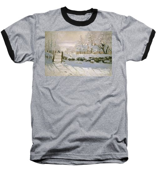 The Magpie Baseball T-Shirt by Claude Monet