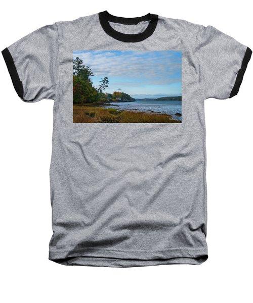 The Maine Coast Near Edgecomb  Baseball T-Shirt