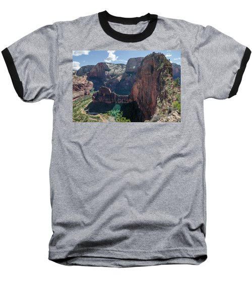 Baseball T-Shirt featuring the photograph The Majesty Of It All by Margaret Pitcher