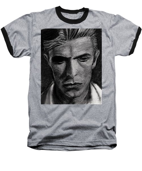 Baseball T-Shirt featuring the painting The Man Who Fell To Earth 1976 by Jarko Aka Lui Grande