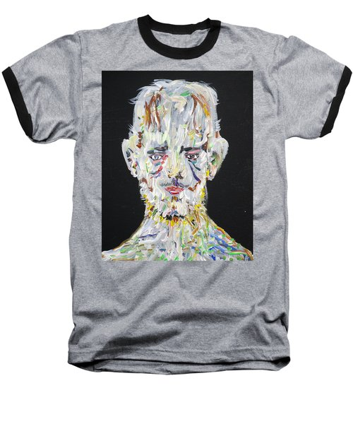 Baseball T-Shirt featuring the painting The Man Who Tried To Become A Mountain by Fabrizio Cassetta
