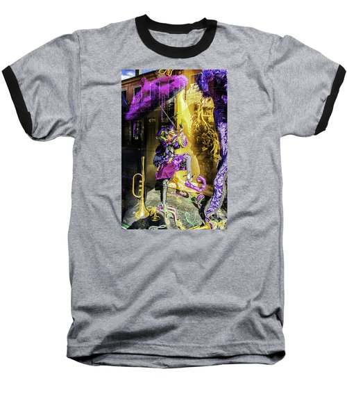 The Mardi Gras Jester Baseball T-Shirt