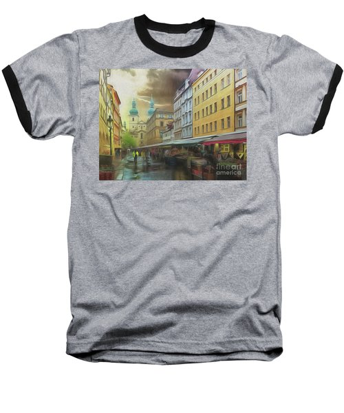 The Market In The Rain Baseball T-Shirt