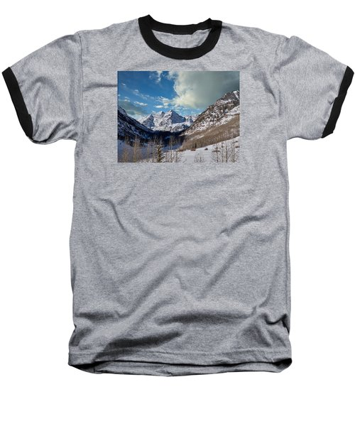 The Maroon Bells Twin Peaks Just Outside Aspen Baseball T-Shirt