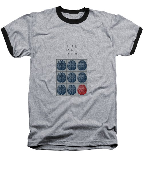 The Matrix Minimal Movie Poster Baseball T-Shirt