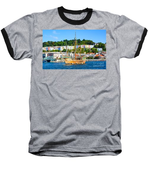 The Matthew In Bristol Harbour Baseball T-Shirt by Colin Rayner