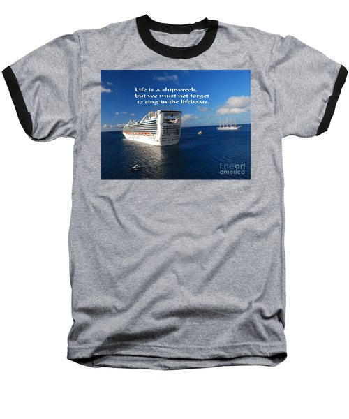 Baseball T-Shirt featuring the photograph The Meaning Of Life by Gary Wonning