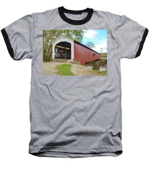 The Mecca Covered Bridge Baseball T-Shirt by Harold Rau