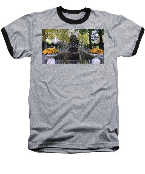 The Medici Fountain At The Jardin Du Luxembourg In Paris France. Baseball T-Shirt by Richard Rosenshein