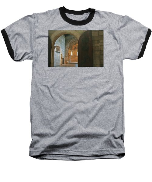 An Early Morning At The Medieval Abbey Baseball T-Shirt by Yvonne Wright