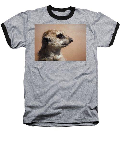The Meerkat Da Baseball T-Shirt by Ernie Echols