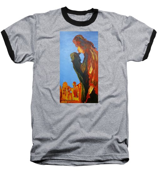 Baseball T-Shirt featuring the painting The Melting by Geeta Biswas