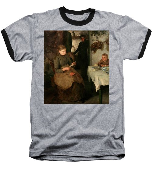 Baseball T-Shirt featuring the painting The Message by Henry Scott Tuke