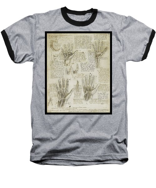 Baseball T-Shirt featuring the painting The Metacarpal by James Christopher Hill