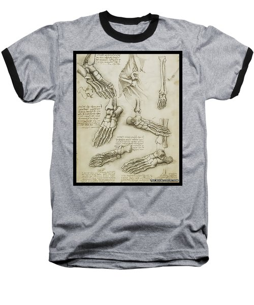 Baseball T-Shirt featuring the painting The Metatarsal by James Christopher Hill