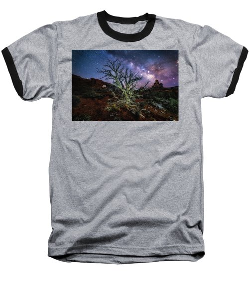 The Milky Way Tree Baseball T-Shirt