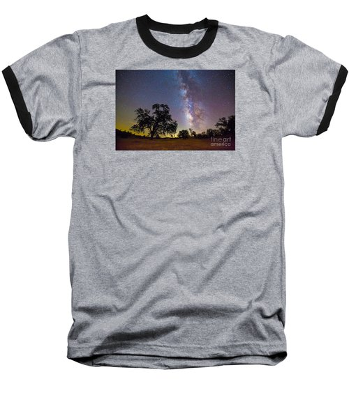 The Milky Way With One Perseid Meteor Baseball T-Shirt
