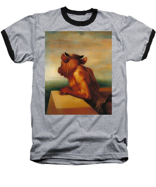 The Minotaur  Baseball T-Shirt by Mountain Dreams
