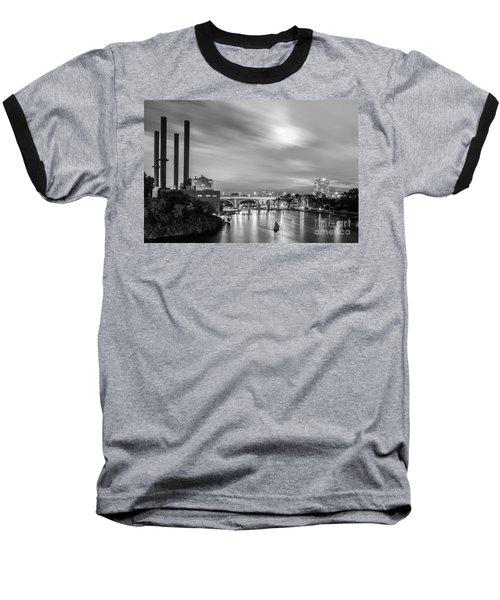 The Mississippi River Night Scene Baseball T-Shirt