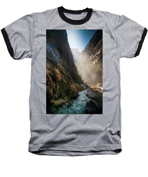 The Mist Trail Baseball T-Shirt by Ralph Vazquez