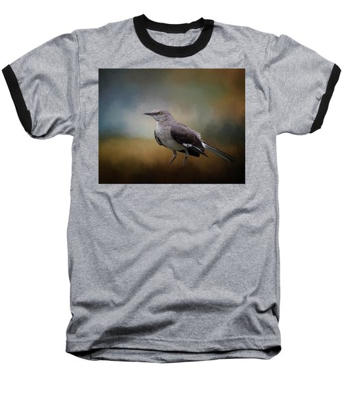 Baseball T-Shirt featuring the photograph The Mockingbird A Bird Of Many Songs by David and Carol Kelly