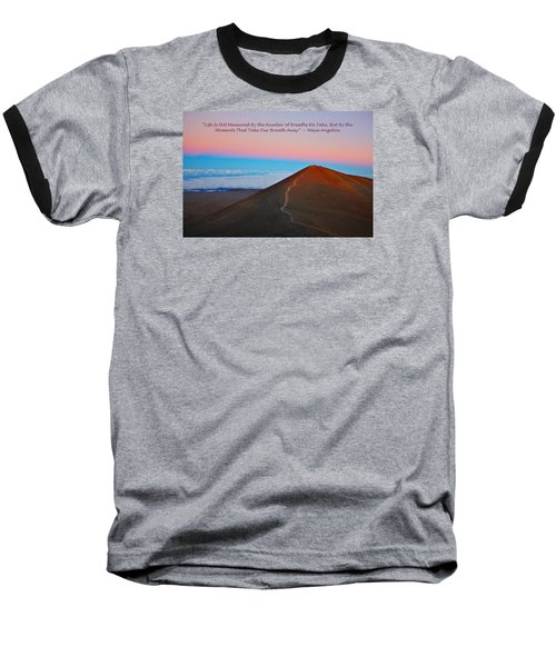 The Moments That Take Our Breath Away Baseball T-Shirt by Venetia Featherstone-Witty