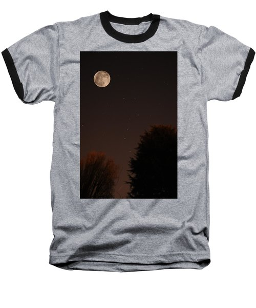The Moon And Ursa Major Baseball T-Shirt
