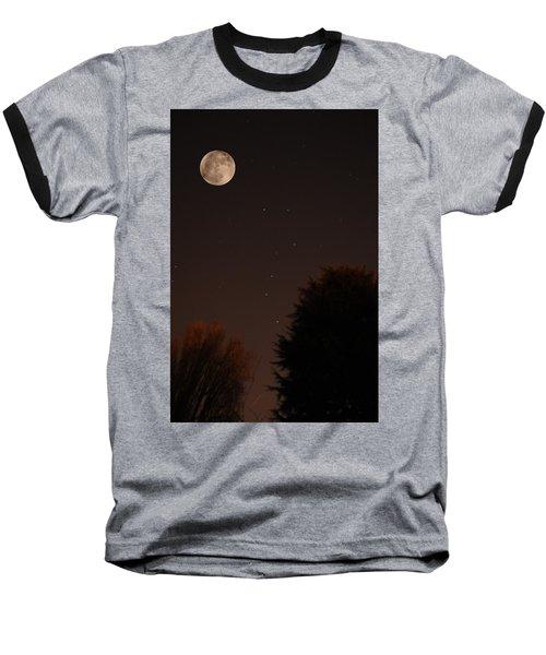 The Moon And Ursa Major Baseball T-Shirt