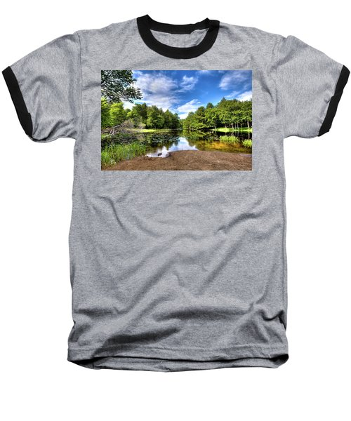 Baseball T-Shirt featuring the photograph The Moose River At Covewood by David Patterson