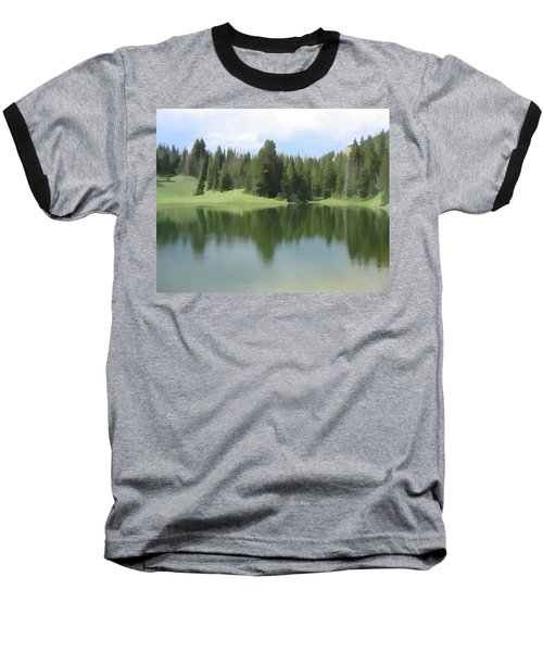 Baseball T-Shirt featuring the digital art The Morning Calm by Gary Baird