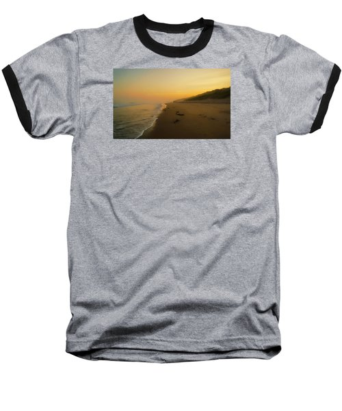 The Morning Walk Baseball T-Shirt by Roy McPeak