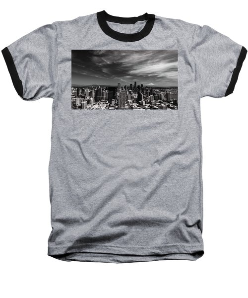 Baseball T-Shirt featuring the photograph The Mountain Is Out by Stephen Holst