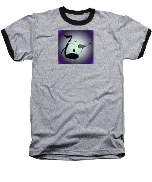 The Musician 29 Baseball T-Shirt by Iris Gelbart