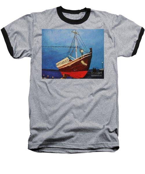 The Mykonos Boat Baseball T-Shirt